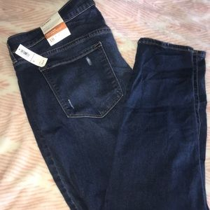 Distressed skinny jeans from old navy